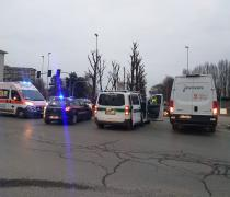 Via Marengo: incidente con auto dei carabinieri